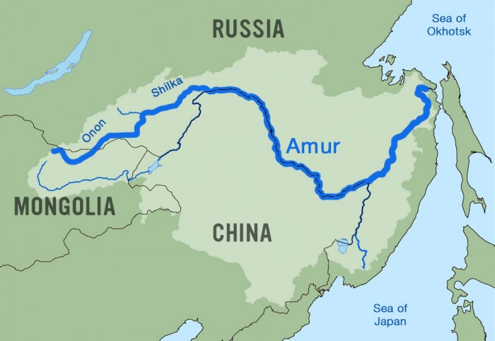 Amur River Map Kayaking Amur River